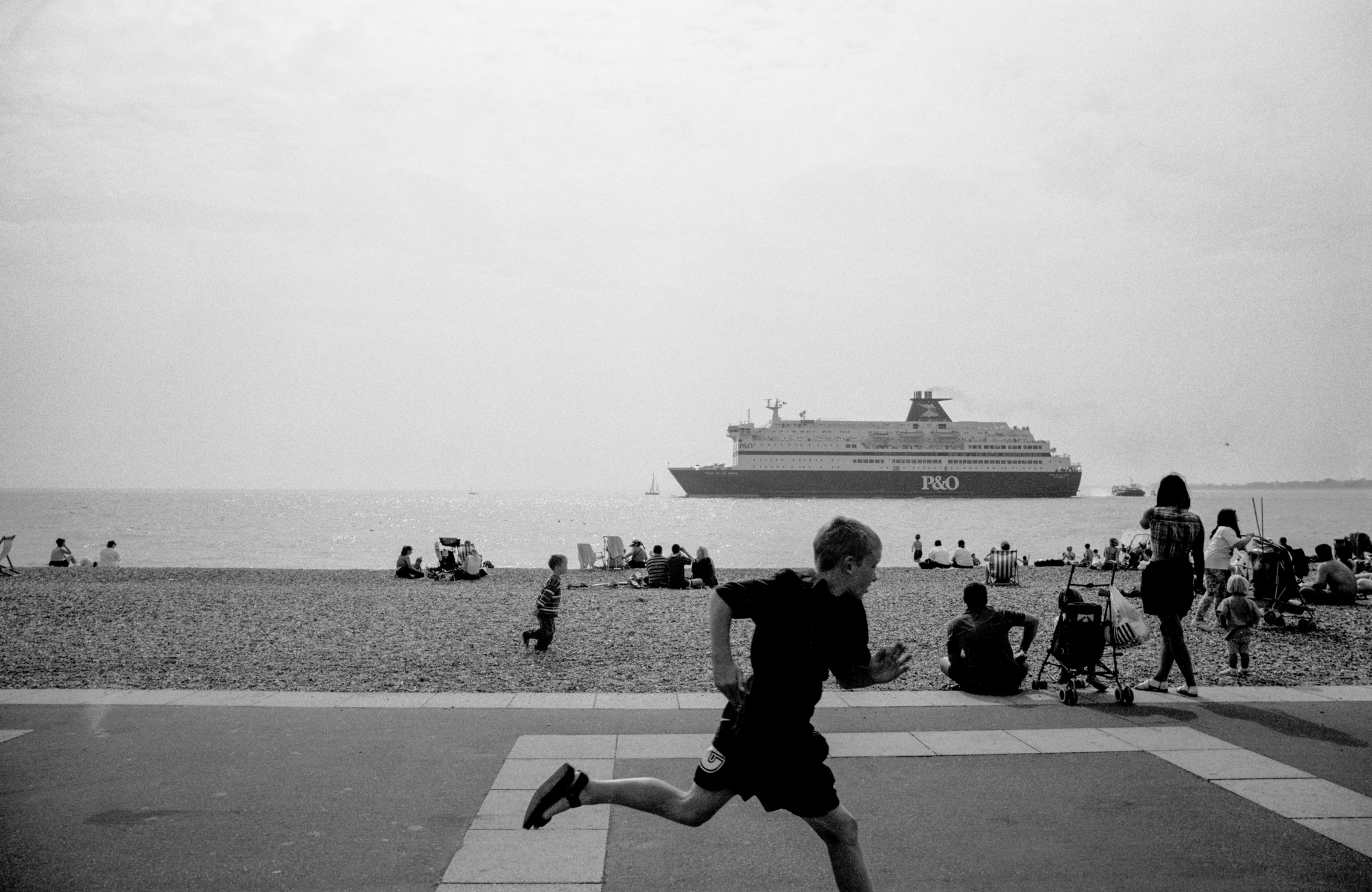 AT THE SEASIDE - Boy Running - Southsea - 1980