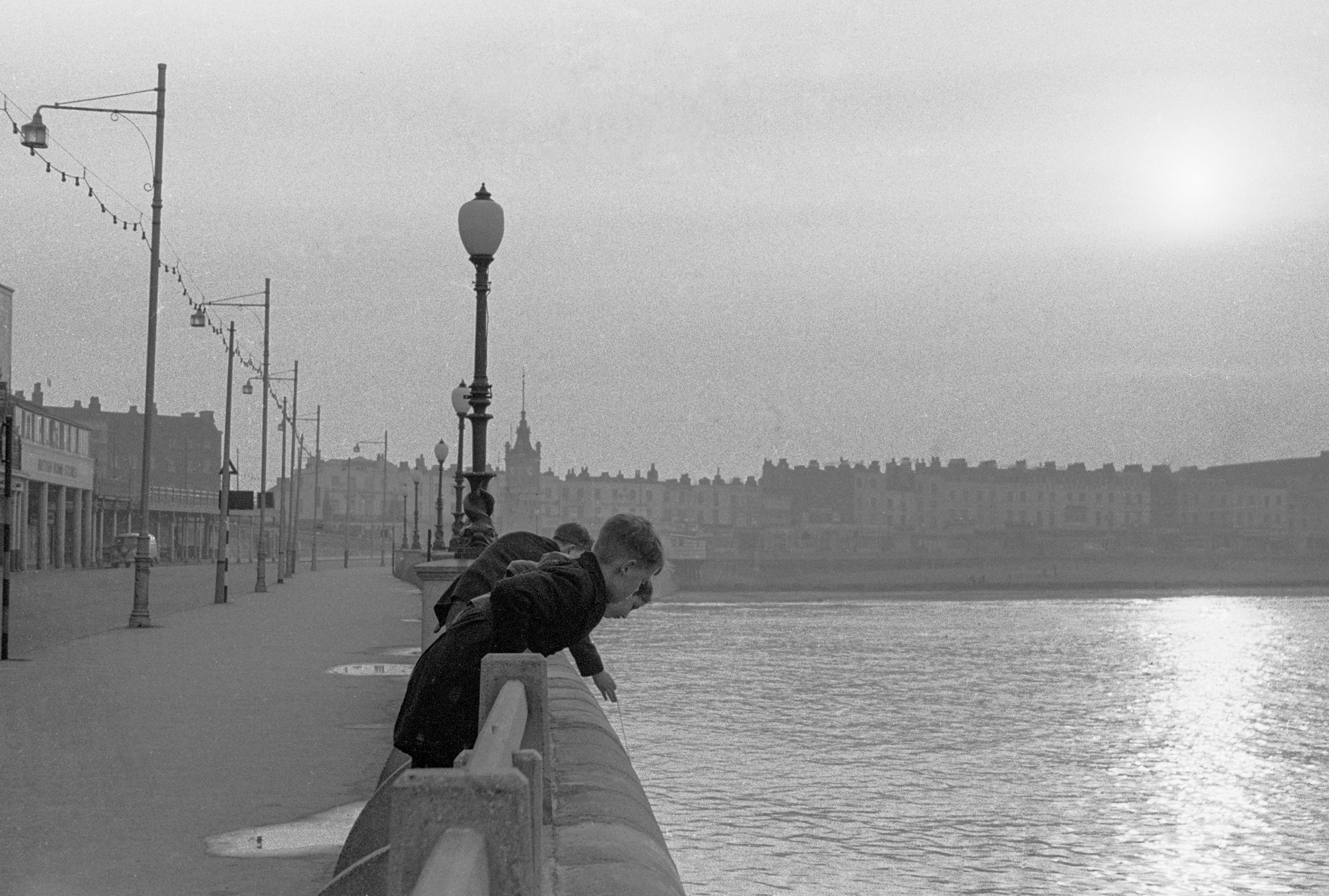AT THE SEASIDE - Boys Fishing - Margate - 1962