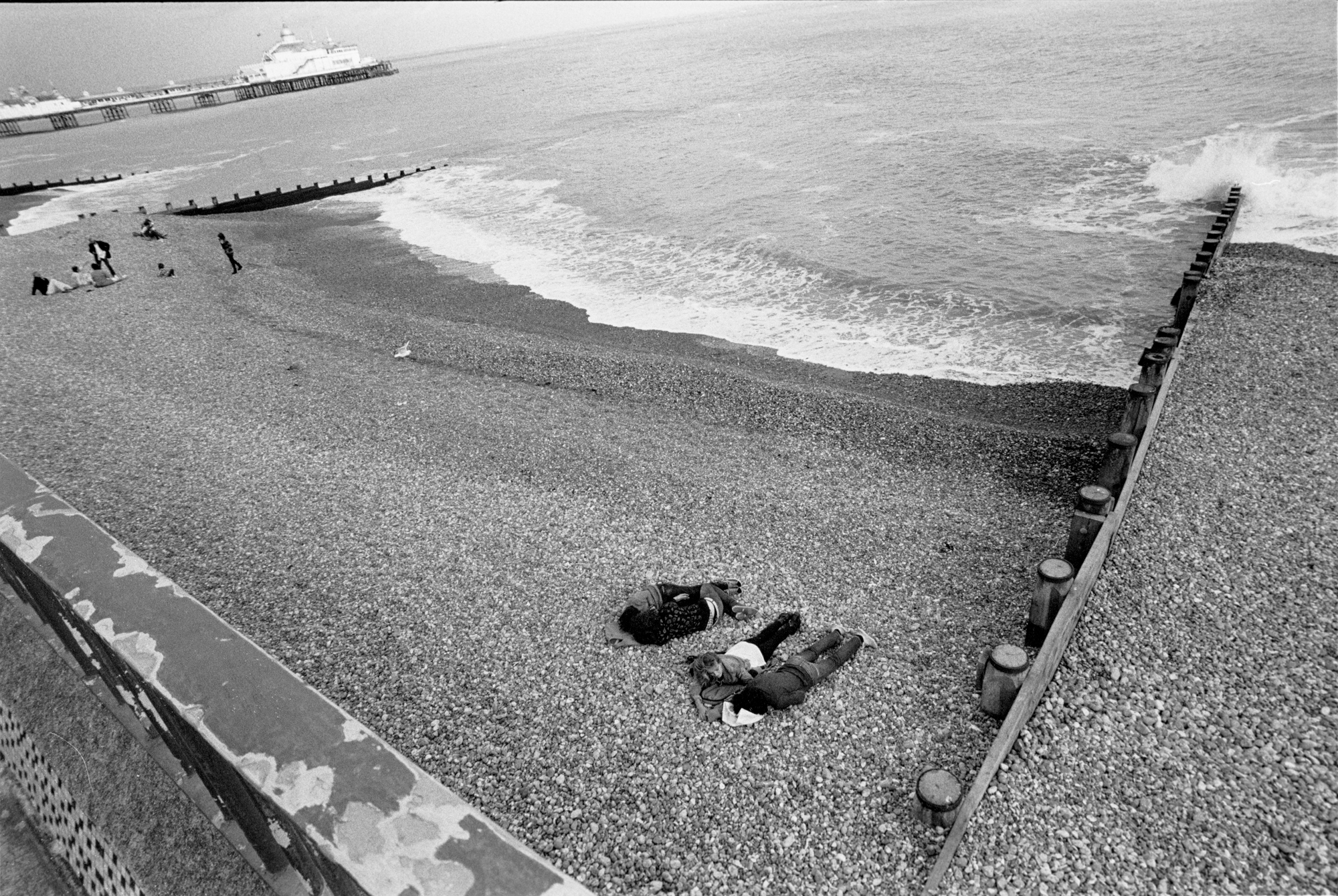 AT THE SEASIDE - People on the Beach - Eastbourne - 2010