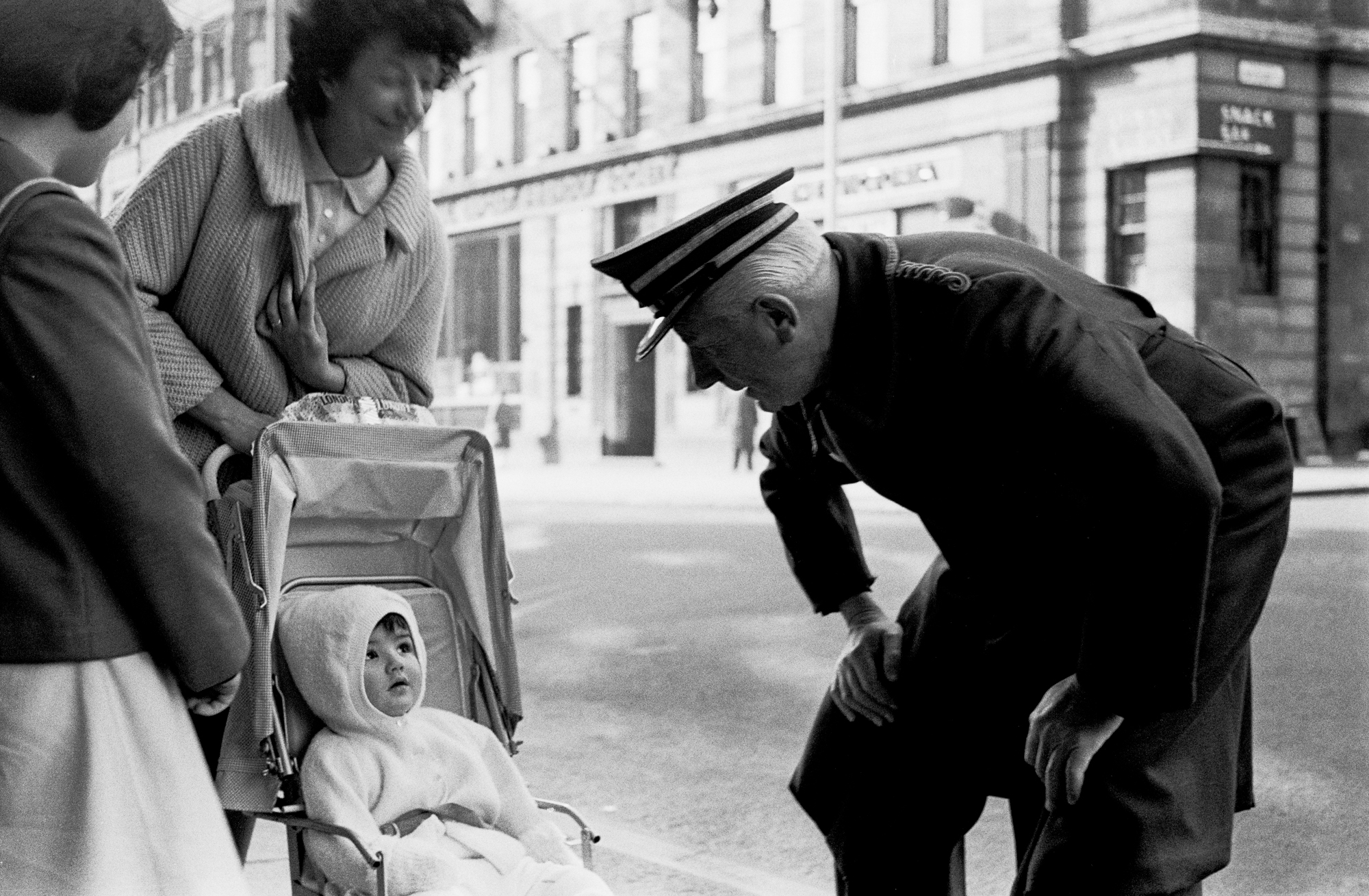 LONDON LIFE - The Doorman and the Baby - early 1960's