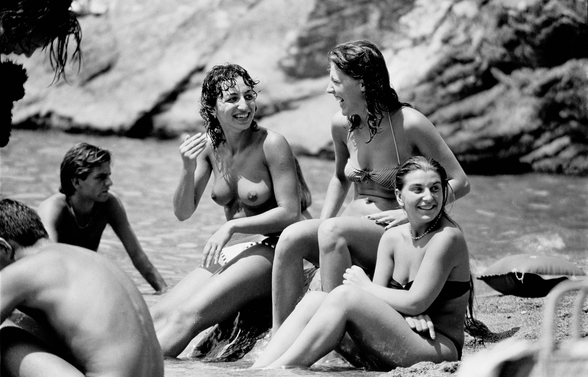 TRAVELS IN ITALY - Girls on the Beach - Italy - early 1980's