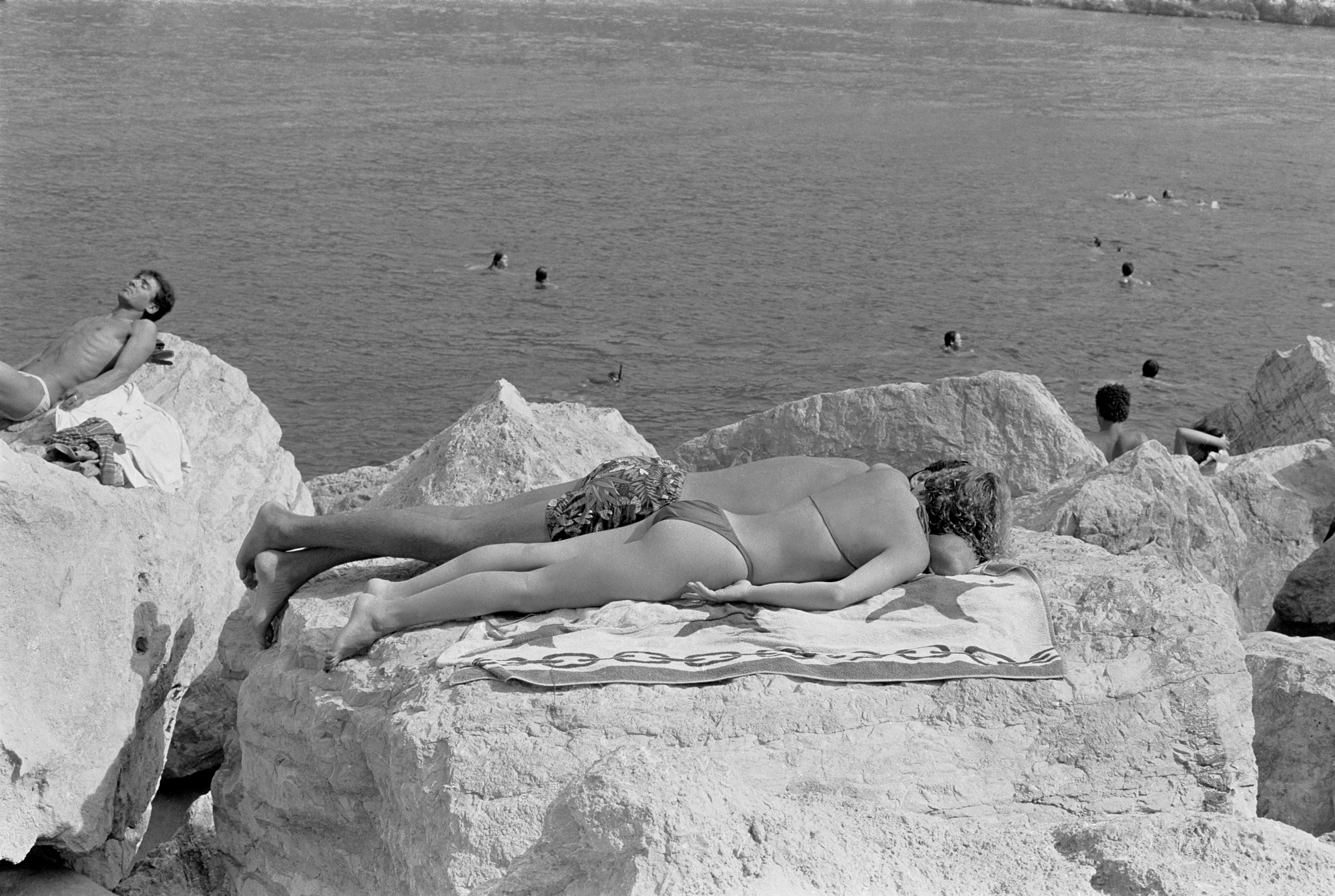 TRAVELS IN ITALY - Sunbathers - Tellaro - early 1980's
